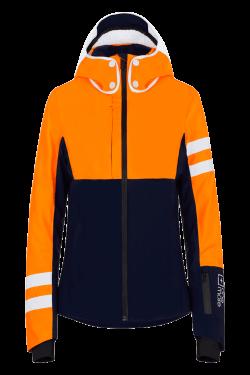 Giacca da sci Arancio e Blu