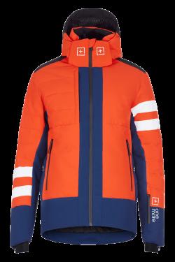 Eco piumino sci Arancio e Blu