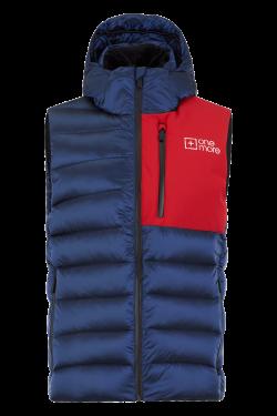 Gilet sci con cappuccio Rosso e Blu