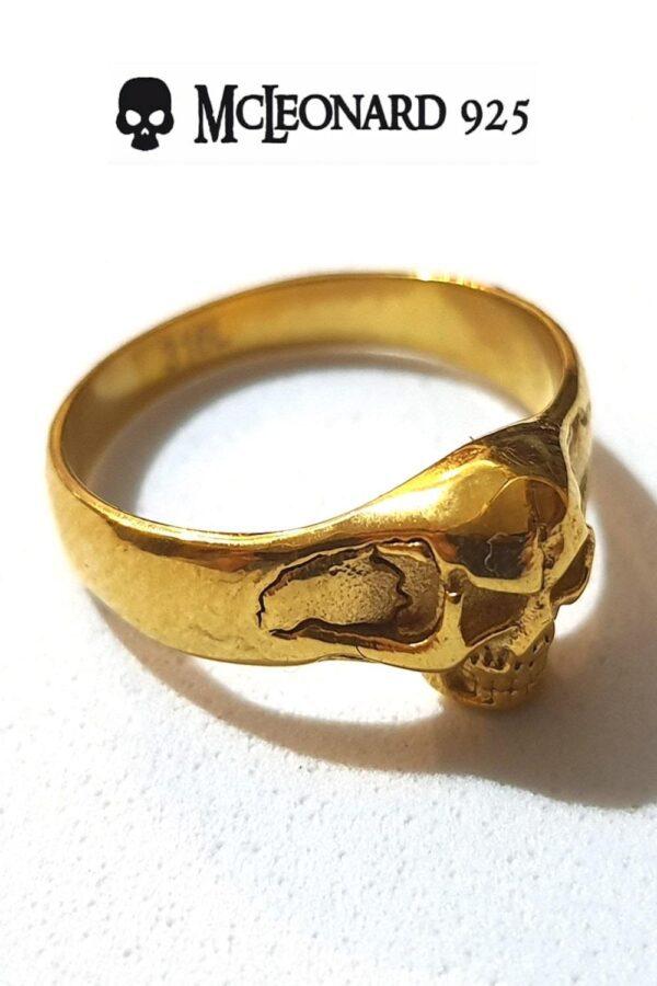 Anello Skull Oro Little