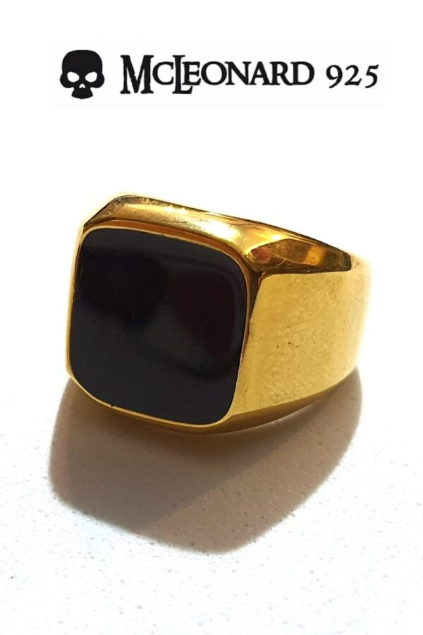 Anello Onice Oro Quadrato