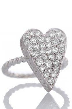 Anello Love Yourself Maxi con diamanti - Via Fratelli Lombardi 1