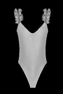 Costume Intero Charm Grigio Perla Ischia
