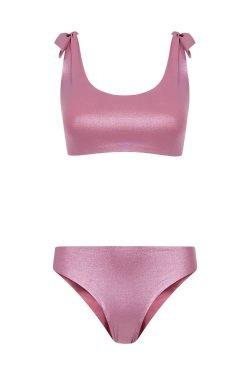Bikini Knotting Bay Rosa