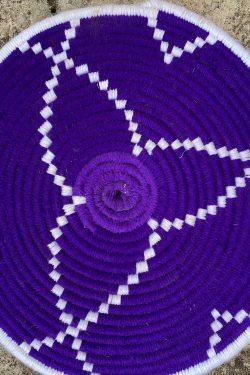 Sottopiatto Mandala Home Viola e Bianco