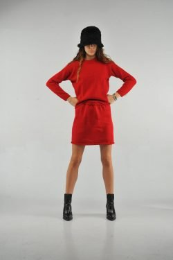 Home Party Skirt Rosso