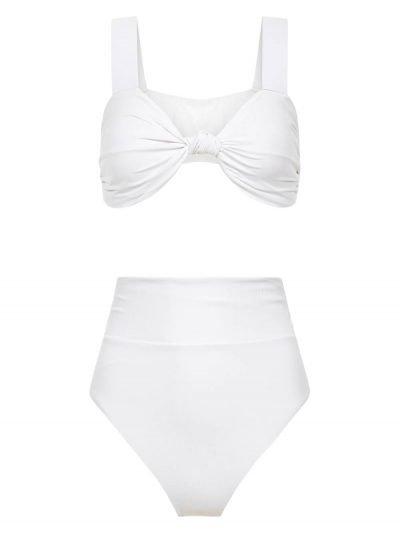 Bikini Nature Nautical High Waisted White
