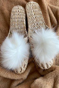 Eco Slippers Bianco