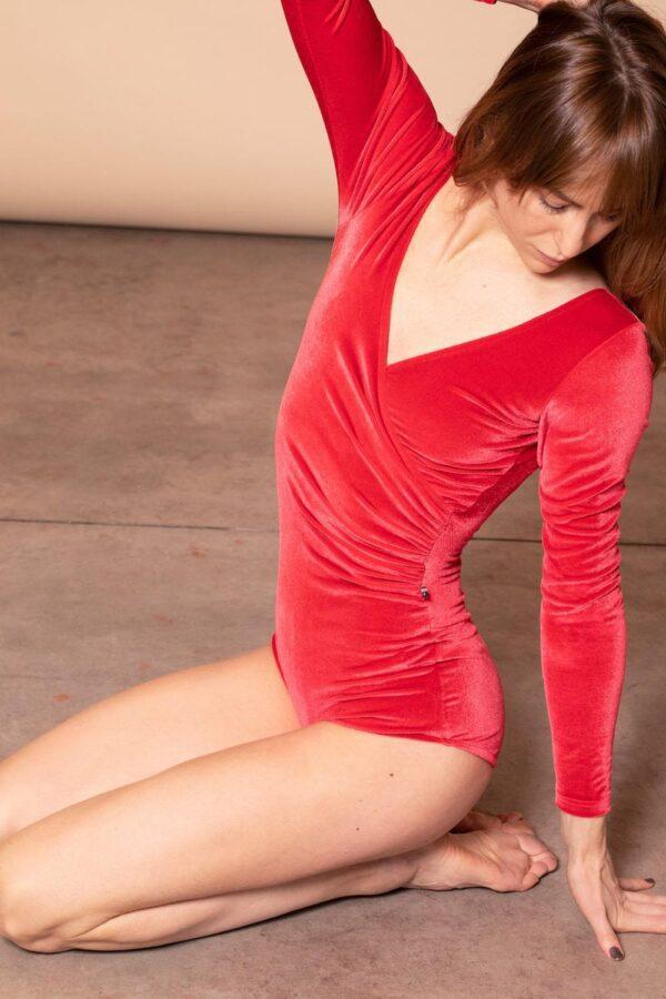 Valery Bodysuit Rosso