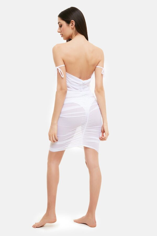 Vestito Diamond Tulle Bianco
