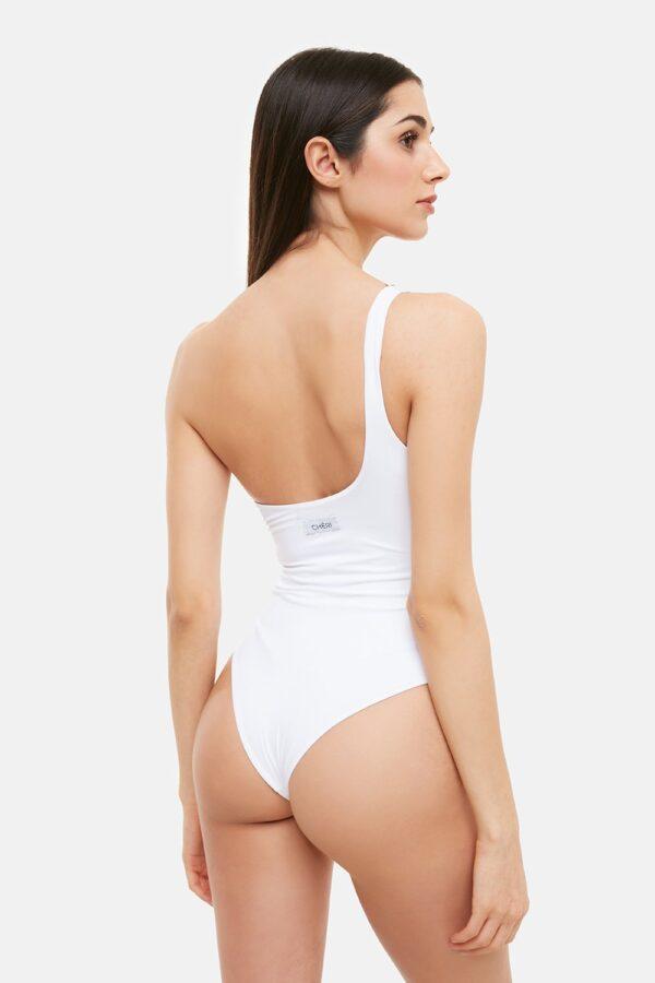 Costume Marghe Monospalla Bianco