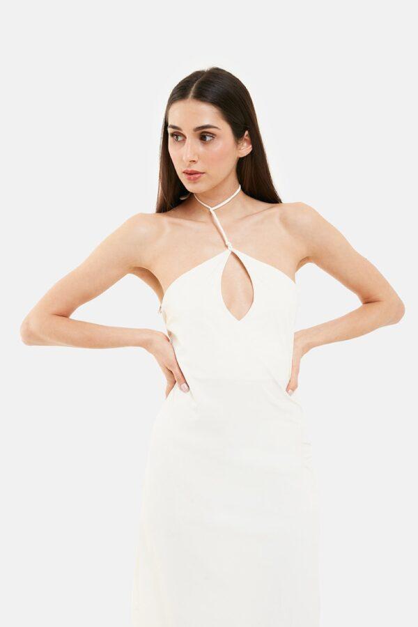 Vestito Cut Out Bianco