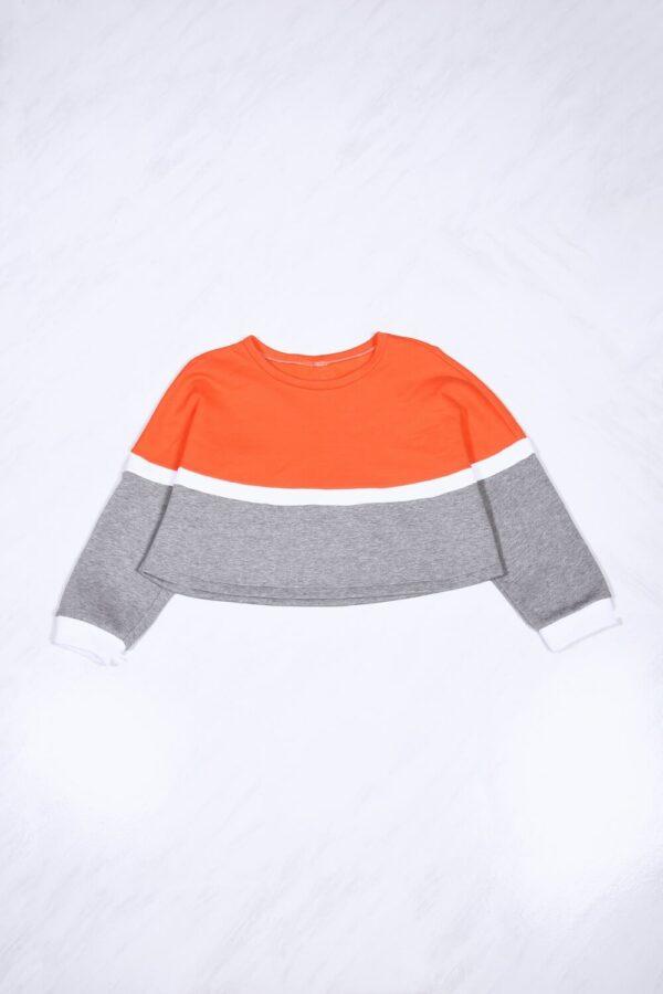 Felpa Feel Arancio/Bianco/Grigio