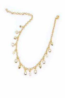 Cavigliera Timeless Oro con cuori, stelle e cristallini bianchi (Copia)