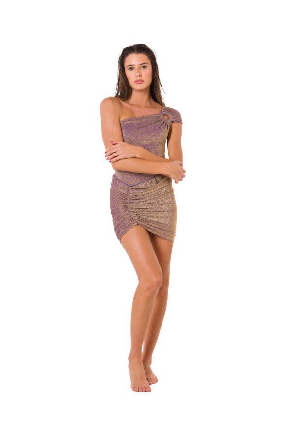 Mini Skirt Lurex